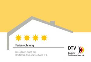 Zertifizierte 4-Sterne Ferienwohnung DTV e.V.